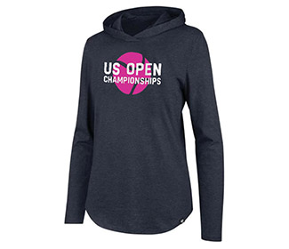US Open Club Hooded L/S Pullover (W) Grey